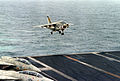 A-7E VA-66 landing on USS Eisenhower (CVN-69) 1980.JPEG
