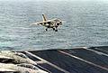 A-7E VA-66 landing on USS Eisenhower (CVN-69) 1980.JPEG