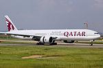 A7-BAZ - Qatar Airways - Boeing 777-3DZ(ER) - CAN (15030847662).jpg