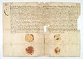 AGAD Potwierdzenie przez Jana Jerzego Radziwiłła, kasztelana trockiego, i jego żonę Eleonorę z Ostrogskich, przywilejów dla Ormian w Jazłowcu - 0002.JPG