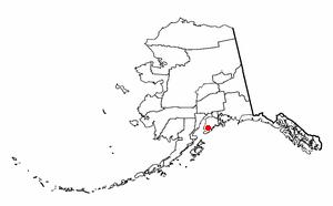 Fox River, Alaska - Image: AK Map doton Fox River