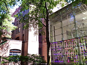 AMNH Exhibitions Lab - The Exhibition Department's headquarters is located on approximately 80th Street in Manhattan.
