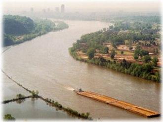 Arkansas River - The lower part of the Arkansas River near Little Rock, Arkansas