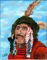 A First Nations man with a pipe in Ontario, painting, 03Q P907P99.tiff