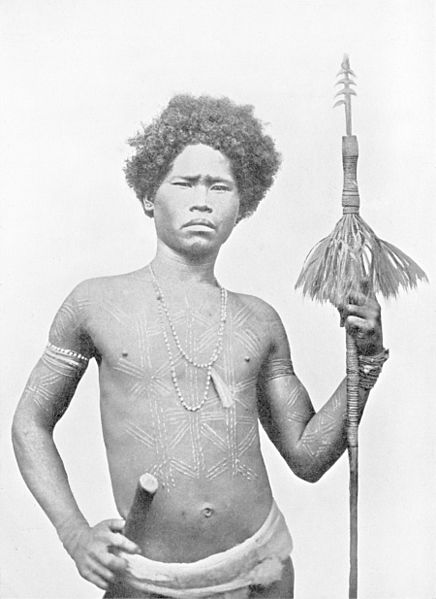 Datei:A LUZON NEGRITO WITH SPEAR.jpg