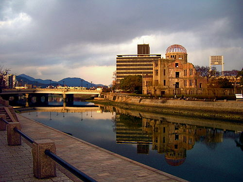 A-Bomb Dome at sunset A bomb dome hiroshima sunset.jpg