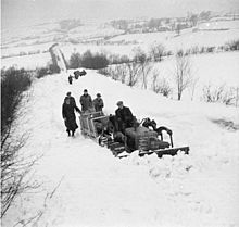Bread to the snowbound village of llanwddyn powys on 15 march 1947