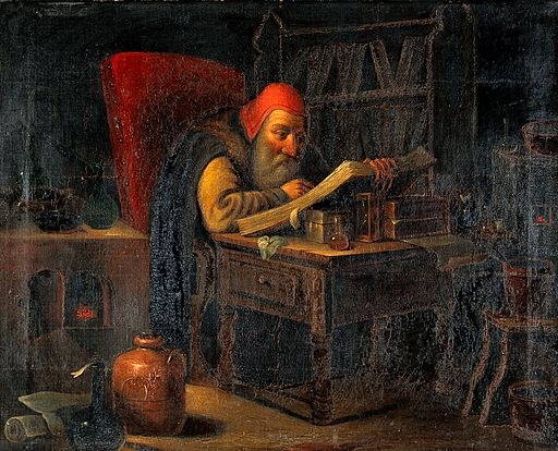 A philosopher reading. Oil painting. Wellcome V0017680