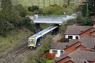 Dunmurry railway station - The Belfast Suburban Rail network near Dunmurry.
