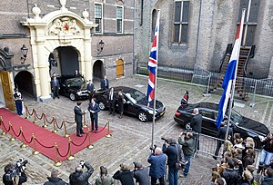 Netherlands–United Kingdom relations - Dutch Prime Minister Mark Rutte meets Britain's former Deputy Prime Minister Nick Clegg at the Binnenhof in the Hague.