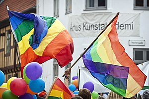 Aarhus Pride, 2012, flags