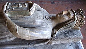 Berengaria of Navarre - Effigy of Berengaria in the chapter house of L'Épau Abbey, Le Mans