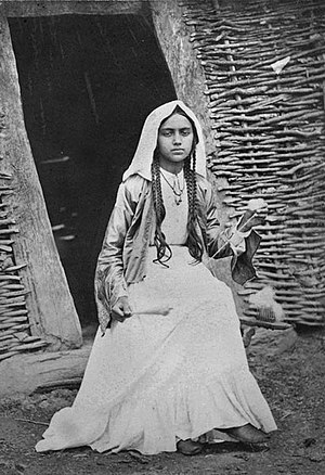 Women in Abkhazia - Image: Abkhaz Girl 1881