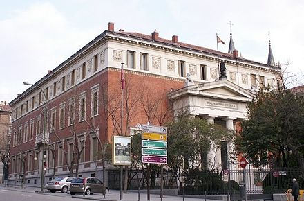 The Royal Spanish Academy Headquarters in Madrid, Spain. Academia de la Lengua.jpg