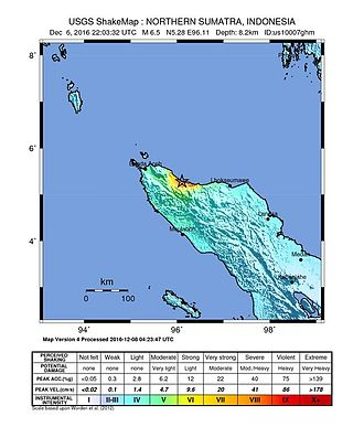 2016 Aceh earthquake - Shakemap for the 2016 Aceh earthquake.