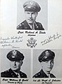 Adjutant, Captain Richard A. Steele, Director of Flying, Captain William G. Gould, Air Inspector, 1st Lt. Hugh L. Johnston photos with autographs, from- Cuero Field - 44G Classbook (page 9 crop).jpg