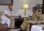 Adm. Gary Roughead, left, meets with Pakistan Gen. Tariq Majid in Islamabad (090820-N-8273J-121 (3843668852)).jpg