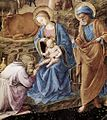 Adoration of the Magi tondo by Fra Angelico and Lippi, detail.jpg
