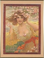 Affiche biscuits Lefèvre utile 1907