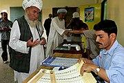 Afghan voting 9-18-2005 male
