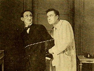 After His Own Heart - Film still with Frank Hayes and Hale Hamilton, featured in Moving Picture World (1919)