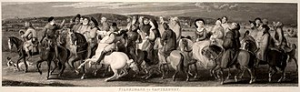 Thomas Stothard - Image: After Th Stothard, The Pilgrimage to Canterbury, engr Louis Schiavonetti & James Heath 1809 17 cropped