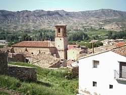 Panoramic view of the village and the Asunción church