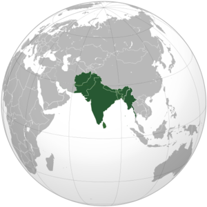 Akhand Bharat - Map of Akhand Bharat proper, consisting of Pakistan, India, and Bangladesh