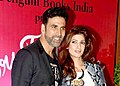 Akshay Kumar with his wife Twinkle Khanna in 2015.jpg