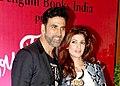 Akshay Kumar with his wife Twinkle Khanna in 2015.jpg