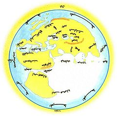 Al-Masudi's world map (10th century)