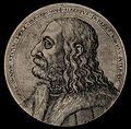 Albrecht Dürer in profile. Etching, 1571. Wellcome V0049095.jpg