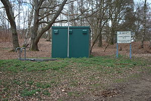 Borehole - A water resources borehole into the chalk aquifer under the North Downs, England at Albury