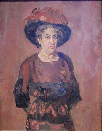 First-wave feminism - Isaac Israels: Aletta Jacobs, 1920. Oil on canvas.