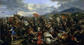 Joseph Parrocel - Alexander the Great defeats King Darius in the battle of Arbelles (ca. 1687)