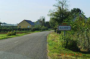 Allerey - The entry to Allerey