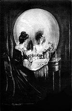 """""""All Is Vanity"""" por C. Allan Gilbert, sugiriendo el entretejido entre la vida y la muerte."""