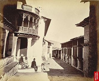 Almora - Almora Bazaar, c1860