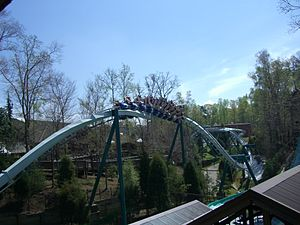 Alpengeist, Busch Gardens Europe, Williamsburg, Wirginia, USA.