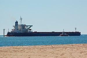 Alpha Millennium departs Port Hedland, 2012 (3).JPG