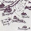 Altepurg Klingenberg-m-Main Pfinzingkarte-Ausschnitt.JPG