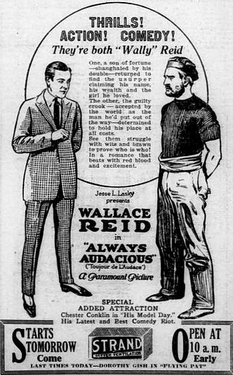 Always Audacious - Newspaper ad
