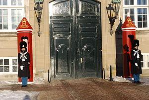 Public duties - Royal Life Guards at Amalienborg Palace