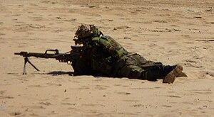 AMELI de la Infantería de Marina Española con visor británico ...
