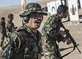 An Afghan National Army commando range safety officer with the 2nd Special Operations Brigade calls out commands at a weapons range in Shindand district, Herat province, Afghanistan, June 18, 2013 130618-A-VX870-005.jpg