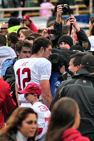 Andrew Luck - Luck after the Big Game between Stanford and Cal in 2010