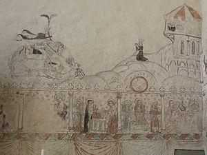 Anga Church, Gotland - Image: Anga kyrka Mural painting 02