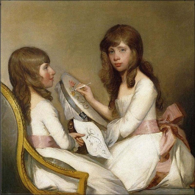 Anna Dorothea Foster and Charlotte Anna Dick by Gilbert Stuart.jpg