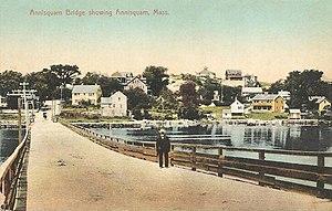 Annisquam Bridge - Image: Annisquam Bridge Showing Annisquam, MA