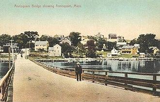 Annisquam, Massachusetts - Image: Annisquam Bridge Showing Annisquam, MA